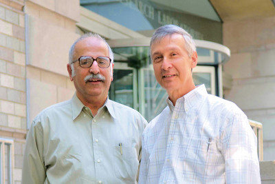 Dinshaw Patel (left) and David Allis