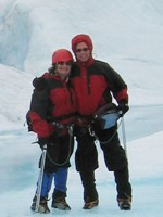 Jerry and his Wife, Tricia, on a Glacier