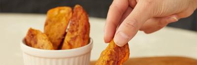 Roasted Ginger Sweet Potato Slices