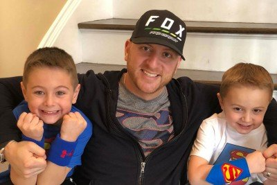 MSK patient Craig Straus with his two young sons