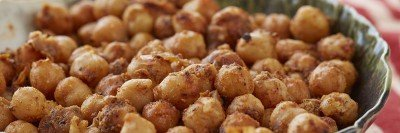 Baked chickpeas snack