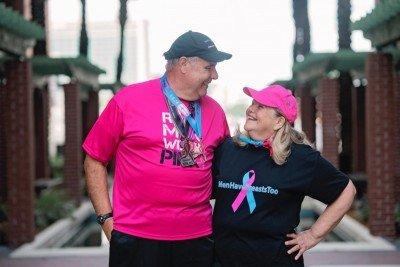 Memorial Sloan Kettering male breast cancer patient Jim Keegan and his wife Pat