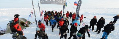Pictured: North Pole Marathon
