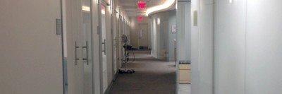 Pictured: Corridor to exam rooms