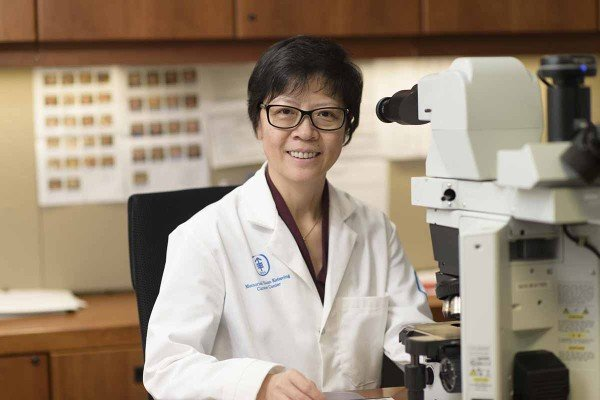 MSK breast pathologist Hong (Amy) Zhang