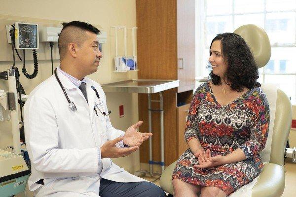MSK lung cancer expert Alexander Drilon and Anna