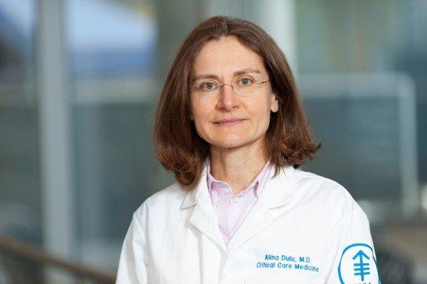 Memorial Sloan Kettering critical care physician Alina Dulu