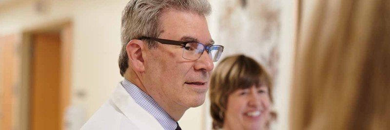 Leukemia expert Martin Tallman consults with his nursing team