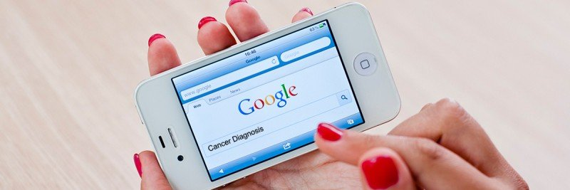 Googling cancer diagnosis and treatment on an iPhone