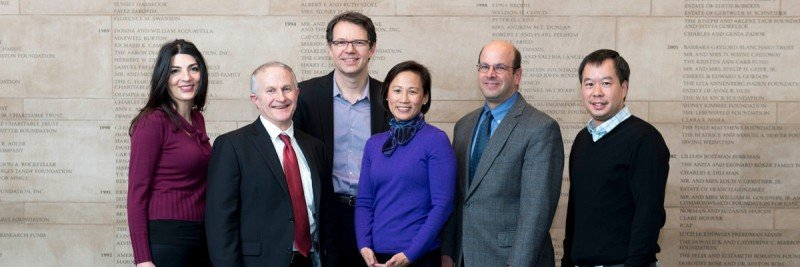 Center for Cell Engineering 2017 Retreat Speakers (from left to right) Katy Rezvani (University of Texas MD Anderson Cancer Center), Jeffrey Miller (University of Minnesota), Michel Sadelain, Katharine Hsu, Dan Kaufman (University of California San Diego), Joseph Sun