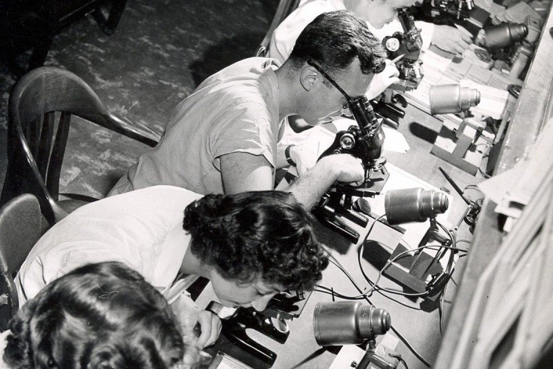 SKI pathology lab, 1950