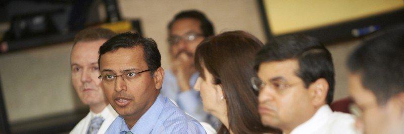 Pictured: Ian Ganly, Bhuvanesh Singh & Hilda Stambuk