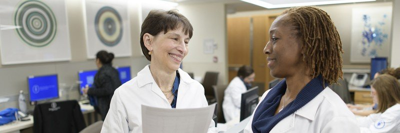 Supportive Care Service Chief Judith Nelson (left) and nurse practitioner Rosetta Richards