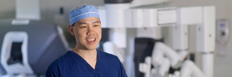 Memorial Sloan Kettering Alvin Goh, an expert in robotic surgery.