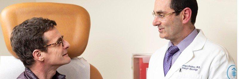 MSK patient Mark McIntosh and surgeon Bernard Bochner