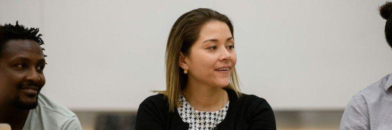 A female graduate student
