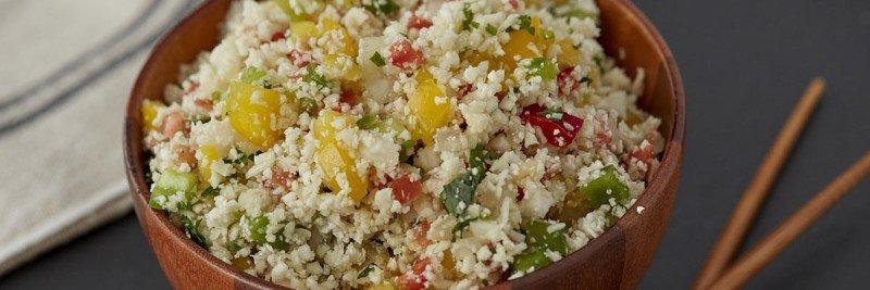Cauliflower Rice with Sautéed Vegetables