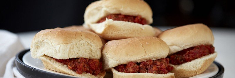 Sloppy Joe sliders make from turkey