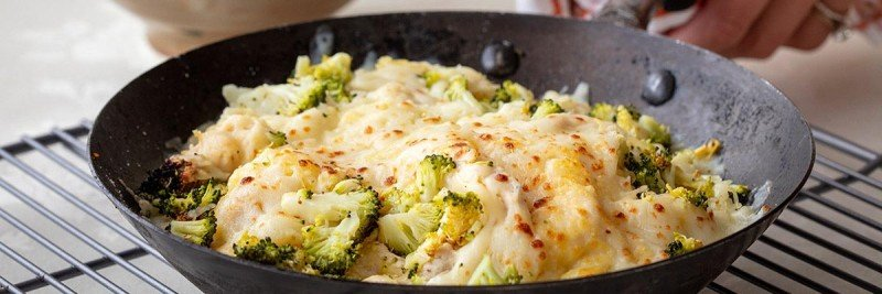 Spaghetti Squash Casserole with Broccoli and Chicken