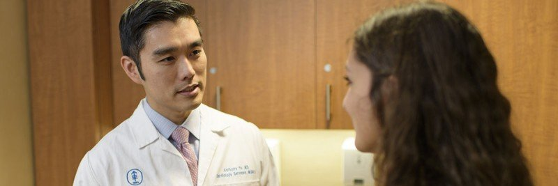 Dr. Anthony F. Yu and patient