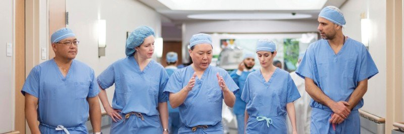Memorial Sloan Kettering surgeons Oliver Zivanovic, Kara Long Roche, Ginger Gardner, and Yukio Sonoda
