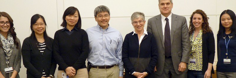 Pictured: Emily Casey, Isabel Lam, Ping Chi, Yu Chen, Tullia Lindsten, Craig Thompson, Moriah Nissan & Chong Luo.