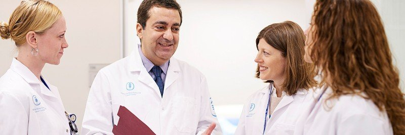 Medical oncologist Anas Younes leads a multidisciplinary team of experts