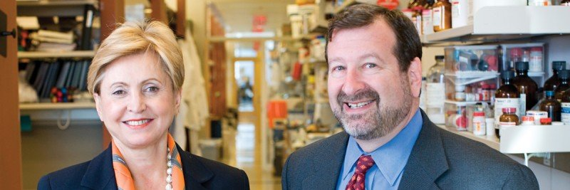 Hedvig Hricak (left) and David Scheinberg are members of the new Nanotechnology Center's executive committee, which Dr. Scheinberg chairs.