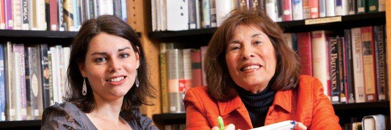 Pictured: Liya Khenkin & Sherry Suib Cohen